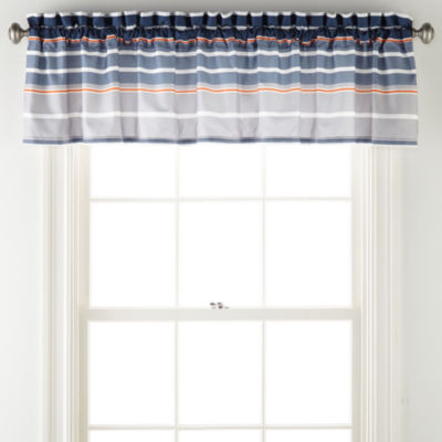 Home Expressions Kingston Rod-Pocket Tailored Valance