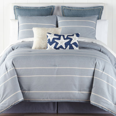 JCPenney Home Regatta 4-pc. Stripes Comforter Set