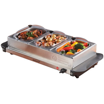 BF-315 Triple Buffet Server w/ Warming Tray