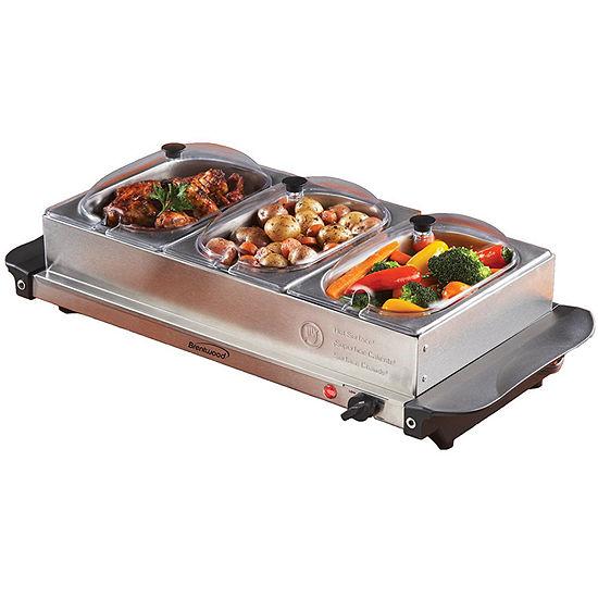 BF-315 Triple Buffet Server w/ Warming Tray