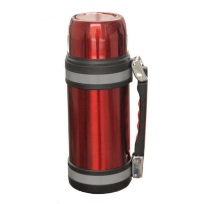Brentwood 1.2 Liter Vacuum Stainless Steel Bottle with Handle in Red (FTS-1200R)