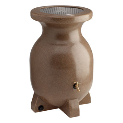 Koolatron 55-Gallon Sandstone Look Decorative Rain Barrel