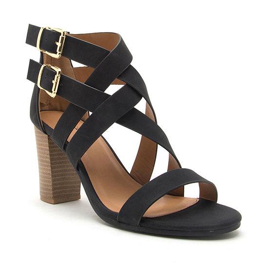 Qupid Womens Lucite 171ax Heeled Sandals