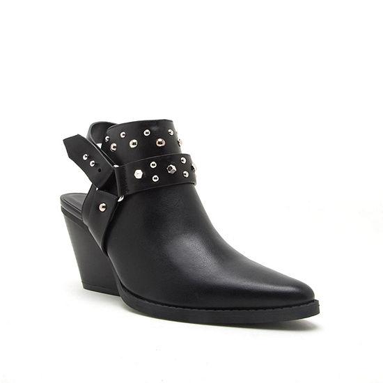 Qupid Womens Zooey 04x Cowboy Boots Stacked Heel