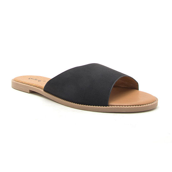 Qupid Womens Desmond-22x Slide Sandals