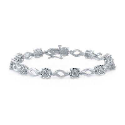 Sterling Silver 7.5 Inch Solid Link Bracelet