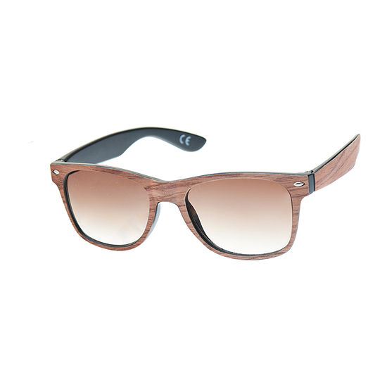 Jf Jferrar Faux Wood Way Retro Rectangular Sunglasses