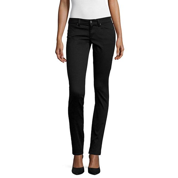 861b580d30e Arizona Sateen Womens Low Rise Slim Pant-Juniors