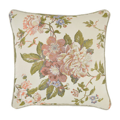 Croscill Classics Carlotta 18x18 Square Throw Pillow