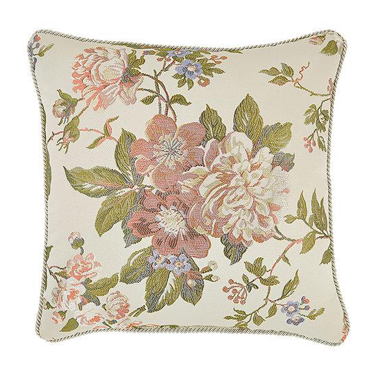 Croscill Classics Carlotta 18x18 Square Throw Pillow