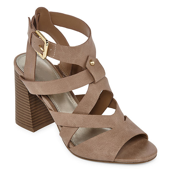 a.n.a Womens Barrier Open Toe Block Heeled Sandals