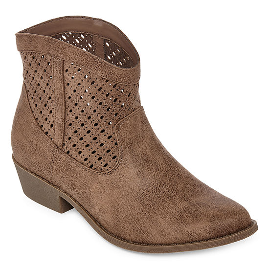 Arizona Womens Mack Block Heel Slip-on Booties