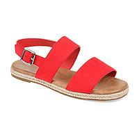 ce4c83c8ce36 Journee Collection Womens Jc Georgia Ankle Strap Flat Sandals
