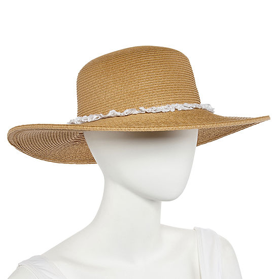 26860849883032 August Hat Co. Inc. Eyelet Ruffle Floppy Hat - JCPenney