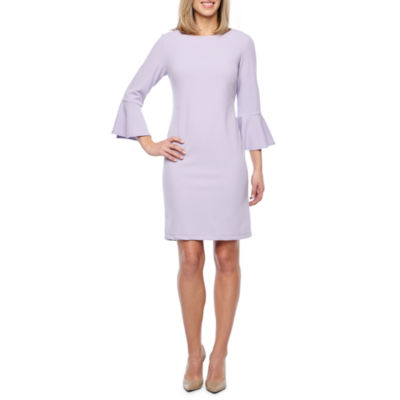 Liz Claiborne 3/4 Bell Sleeve Sheath Dress