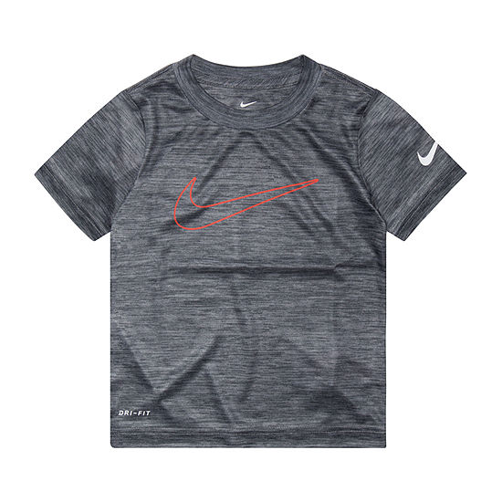 Nike Boys Crew Neck Short Sleeve Graphic T-Shirt-Toddler