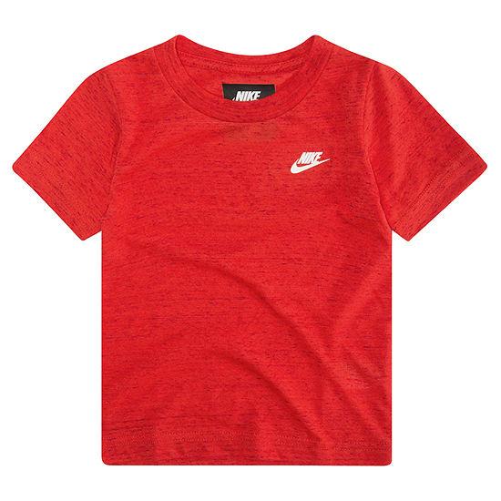 Nike Boys Crew Neck Short Sleeve T-Shirt-Toddler