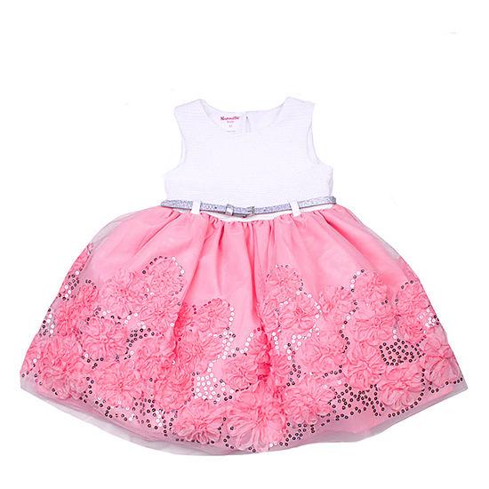 Nanette Baby Girls Sleeveless Skater Dress - Toddler
