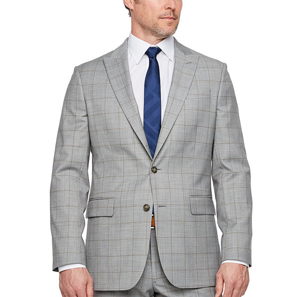 Stafford Windowpane Classic Fit Stretch Suit Jacket