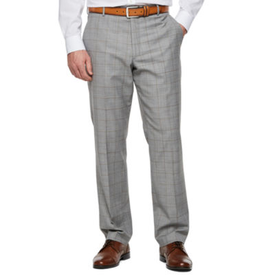 Stafford Windowpane Classic Fit Stretch Suit Pants