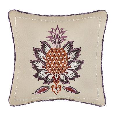 Croscill Classics Lauryn 16x16 Square Throw Pillow