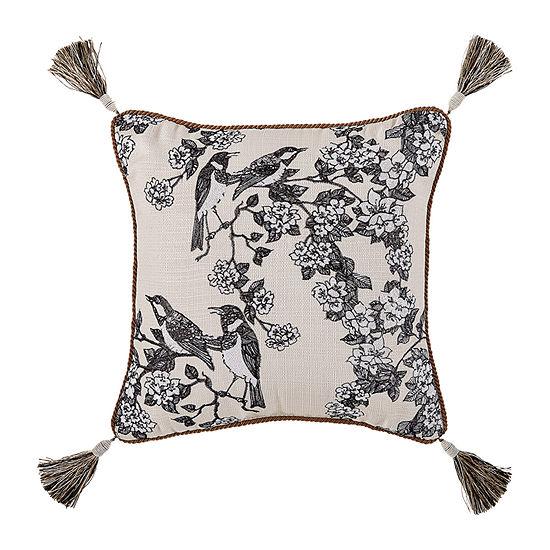 Croscill Classics Philomena 16x16 Square Throw Pillow