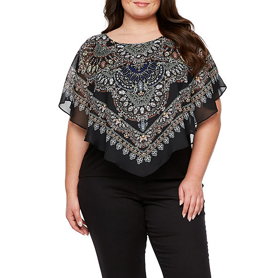 Alyx Short Sleeve Printed Woven Popover Plus