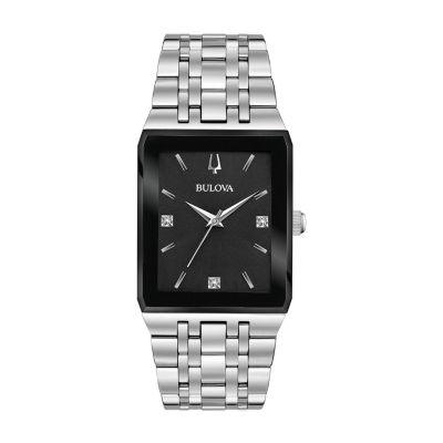 Bulova Mens Silver Tone Bracelet Watch-96d145