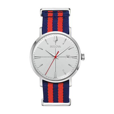 Bulova Mens Multicolor Strap Watch-96b314