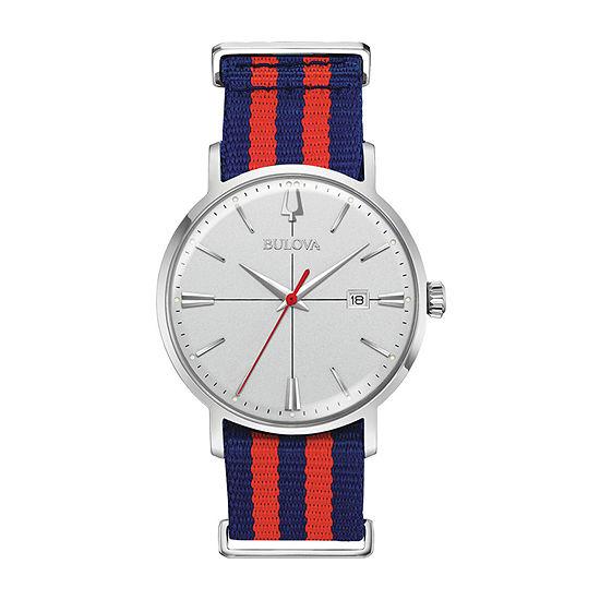 Bulova Aerojet Mens Blue Strap Watch-96b314