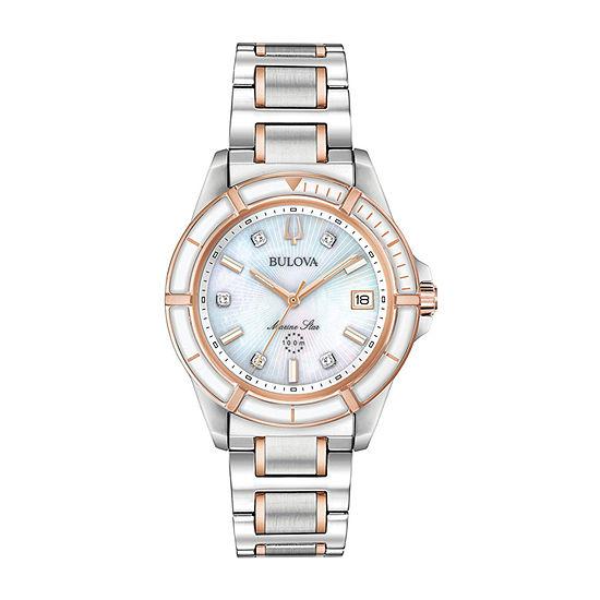 Bulova Womens Two Tone Bracelet Watch-98p187