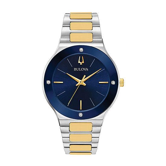 Bulova Millennia Mens Two Tone Stainless Steel Bracelet Watch-98e117