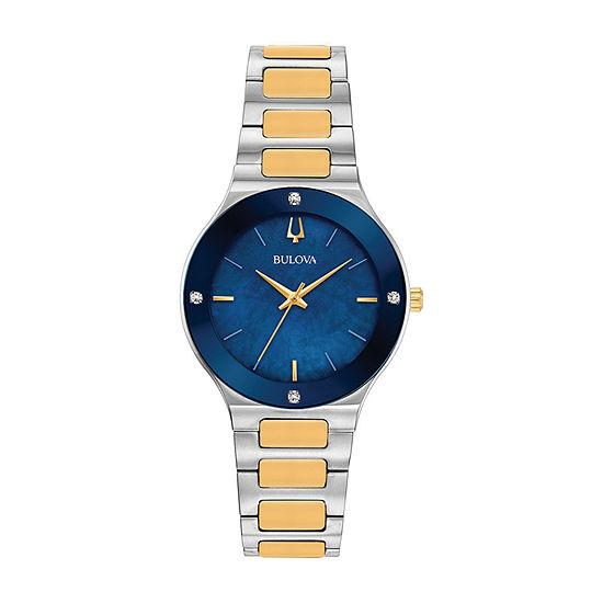 Bulova Millennia Womens Two Tone Bracelet Watch-98r273