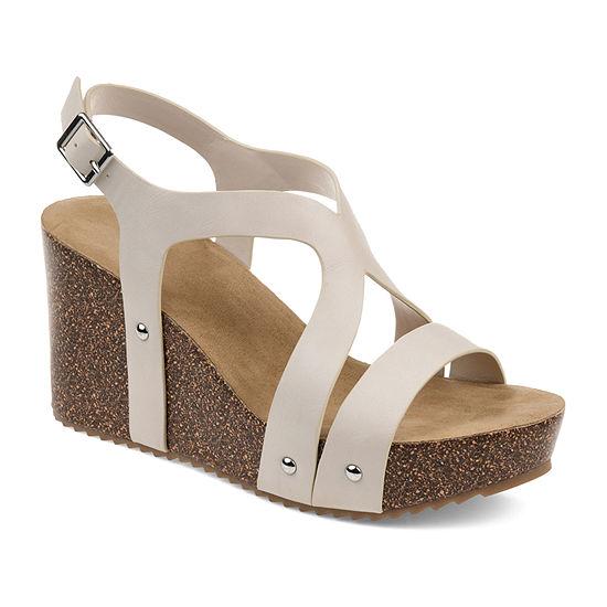 Journee Collection Womens Geneva Wedge Sandals
