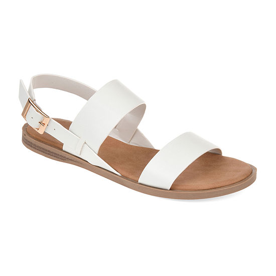 Journee Collection Womens Lavine Ankle Strap Flat Sandals