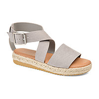 00dfb594d7c Journee Collection Womens Trinity Ankle Strap Flat Sandals