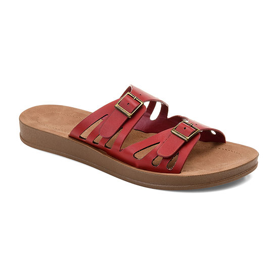 Journee Collection Womens Telsa Slide Sandals
