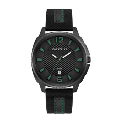 Caravelle Mens Black Strap Watch-45b155