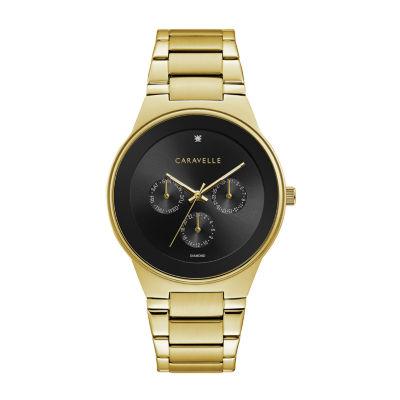 Caravelle Mens Gold Tone Bracelet Watch-44d102