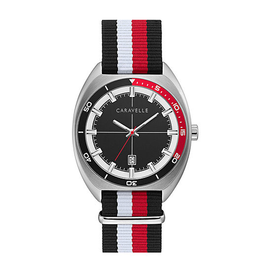 Caravelle Mens Multicolor Strap Watch-43b168
