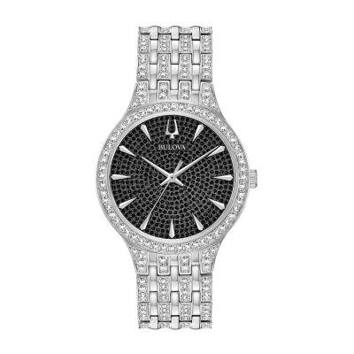 Bulova Mens Silver Tone Bracelet Watch-96a227