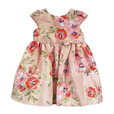 Lilt Elbow Sleeve A-Line Dress - Baby Girls