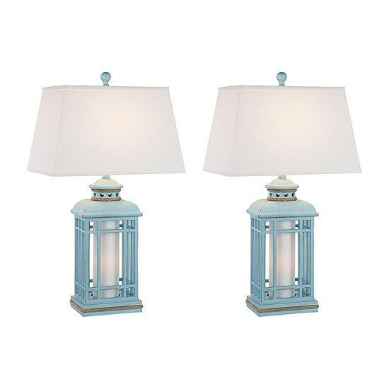Seahaven Coastal Lantern 2-pc. Lamp Set