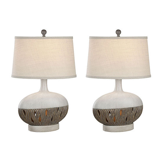 Seahaven Transitional Coastal 2-pc. Lamp Set
