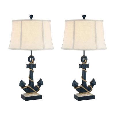 Seahaven Anchor Coastal 2-pc. Lamp Set