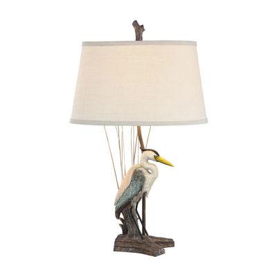 Seahaven Coastal Standing Heron Lamp Set
