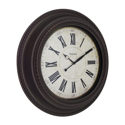 "Westclox 20"" Round Decorative Wall Clock"