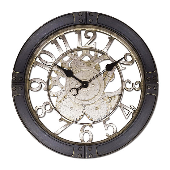 "Westclox 16"" Round Wall Clock with Gears Dial"