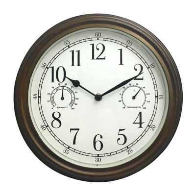 """Westclox 12"""" Indoor/Outdoor Round Wall Clock"""