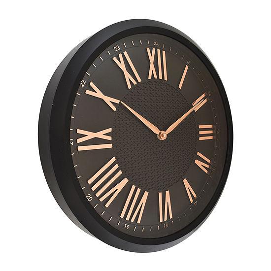 "Westclox 15"" Round Embossed Wall Clock"